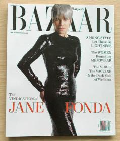 美国版HARPER`S BAZAAR 芭莎2021年4月 英文女士时尚服装杂志