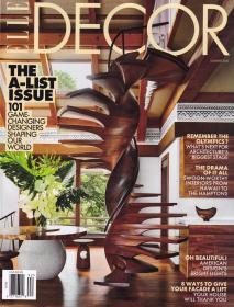 美国版 ELLE DECOR 住宅装饰2021年夏季版 英文室内设计杂志