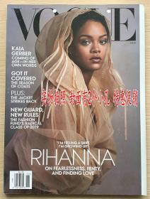 美国版 VOGUE 2019年11月蕾哈娜 Rihanna 英文时尚潮流服装杂志