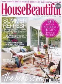 英国版 House Beautiful 美丽家居2021年7月 英文建筑杂志