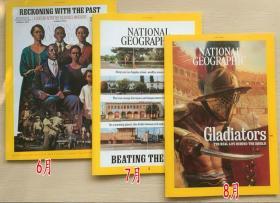 National Geographic美国国家地理2021年6+7+8月 3本打包英文杂志