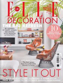 ELLE DECORATION 住宅装饰2021年6月 英国版室内装修设计英文杂志