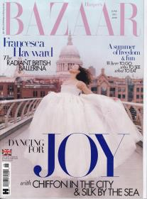 HARPER`S BAZAAR芭莎2021年6月 英国版时尚女士服装英文杂志
