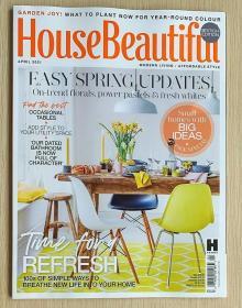 House Beautiful 美丽家居2021年4月 英文室内建筑设计杂志英国版