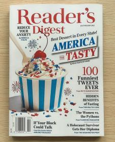 美国版READER'S DIGEST 读者文摘2021年7/8月合刊 英文生活类杂志