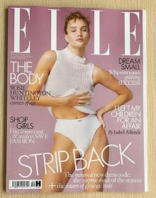 英国版 ELLE 2021年4月 女士时尚服饰潮流服装英文杂志