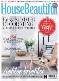 英国版 House Beautiful 美丽家居2021年6月 英文建筑杂志
