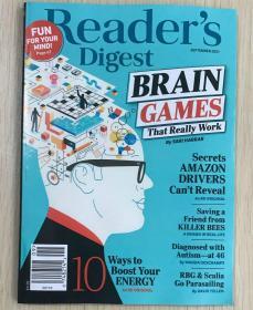 美国版 READER'S DIGEST 读者文摘2021年9月 考研英文生活类杂志