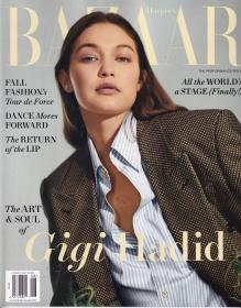 美国版 HARPER`S BAZAAR 芭莎2021年8月 英文女士时尚服装杂志