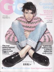 英国版 GQ绅士2021年7月 时尚潮流男士服装英文杂志