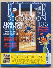ELLE DECORATION 住宅装饰2021年4月 英国版室内装修设计英文杂志
