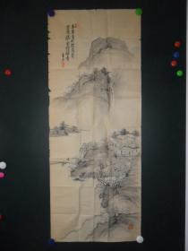 y(清代-民國)設色山水人物,軟片(0225)