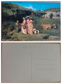 明信片--世界名画.乡村少女