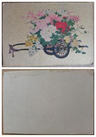 小推车上的花卉图片