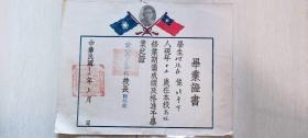民国三十五年北平市私立普育小学(东四五条小学)毕业证书