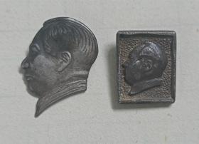 """解放初期上海""""裘天宝""""银楼制纯银毛主席纪念章两枚"""