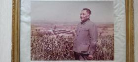 中国改革开放总设计师邓小平视察农村彩色大照片(经典影像)