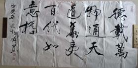 """中國畫藝術研究院副院長,著名畫家薛林興""""德載萬物""""書法(8平尺)"""