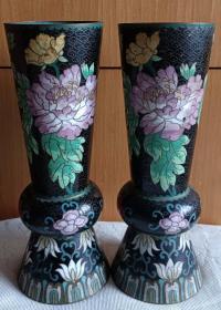 清末民国时期牡丹花卉纹香筒或卦签筒