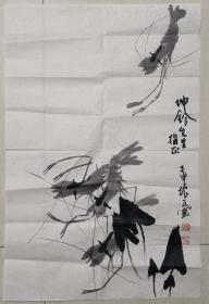 齐派绘画传人,齐白石艺术研究会常任理事,著名画家周振民水墨画
