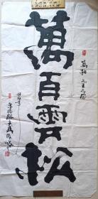 """亞洲最杰出的傳奇書畫大師之一""""江北一怪""""武微波""""萬百靈松""""書法(8平尺)"""