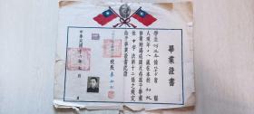 民国三十六年北平市私立育英中学(胡适曾任董事,北京二十五中)毕业证书