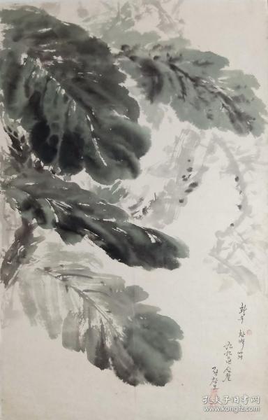 《献给画友昌碧》1992年,郑昶谟  화우 창벽에게   정창모