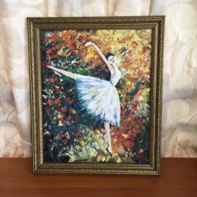 手绘抽象油画巴蕾舞单人舞蹈家居走廊过道玄关新居入伙挂画送画框包邮