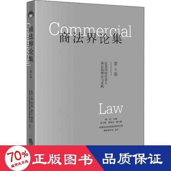 商法界论集(第6卷):证券纠纷代表人诉讼的理论与实践