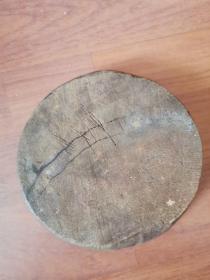 老木罗盘(自制整块木头制作,手写表盘,很准,风水大家使用)