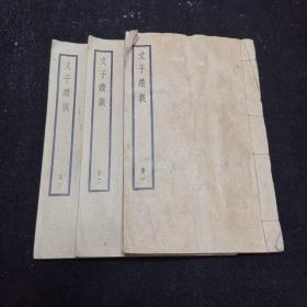 四部备要本《文子缵义》白纸线装全三册,民国中华书局据聚珍本校刊 (元)杜道坚撰。