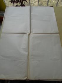 老纸头【80年代,泛黄薄纸,18张,尺寸:54.5×39.5厘米】【泛黄薄纸,12张,尺寸:37×24.5厘米】