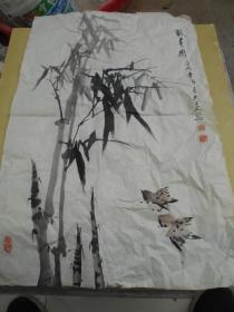 南京老教授【宋太炎,国画】尺寸:69×45厘米