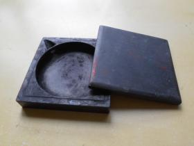 【旧方形砚台】尺寸:11.2×11.2×2.7厘米