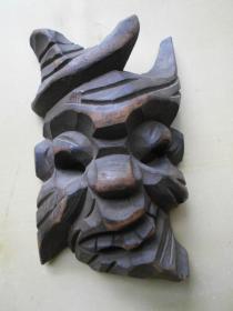 艺术学院家属区收来的【木雕,傩面具】尺寸:18×11.2厘米