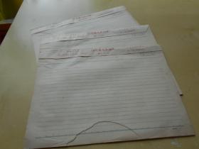 老纸头【60年代,横格信纸,3本90张】尺寸:26×19厘米