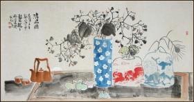 【马硕山】山东淄博人 国家一级美术师 现为中国国家博物馆书画院专职画家 中国画学会理事 花卉