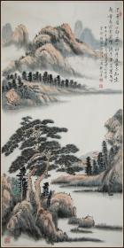 【任建业】山东曲阜人 中国国画研究院院士、海天书画院院长 山水