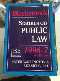 Blackstone's Statutes on PROPERTY LAW1996-7Sixth Edition