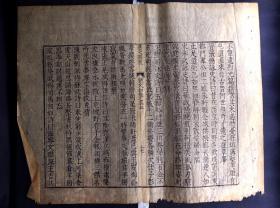 明万历王元贞刻本 《艺文类聚》散页一张(典型明万历字体、明代竹纸精印、明版明印、《中国古籍版刻辞典》称此书仅印200部,流传颇稀,可以作为鉴定明万历版刻本的标注器)
