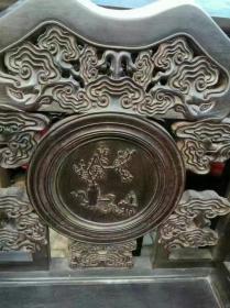 古董古玩老家具清代紫檀中堂老物件明清紫檀中堂