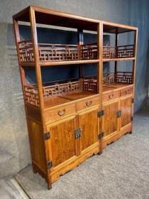黄花梨古典家具木器明清海南黄花梨书柜