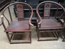 明清红木家具清代红酸枝圈椅木器老椅子
