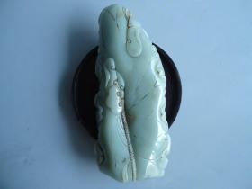清代和田玉雕弥勒佛像