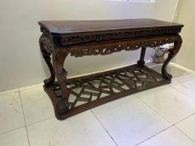 古董古玩木艺老家具清代红木条桌
