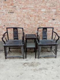 老家具木器清代紫檀靠背椅明清老家具老紫檀