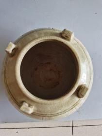 古董古玩老窑瓷器隋唐时期相州窑瓷器四系罐