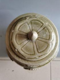 古董老瓷器唐代相州窑青瓷摆件