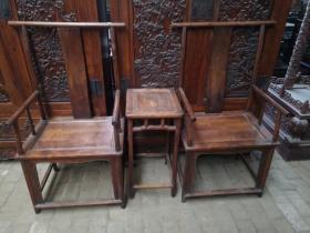 古董老家具黄花梨官帽椅