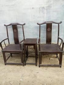 老家具木器清代紫檀官帽椅明清木艺家具